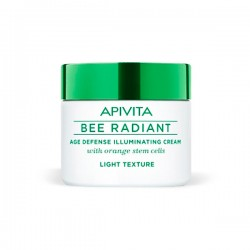 Apivita BEE RADIANT Crema iluminadora Defensa Antiedad Textura Light - 50 ml