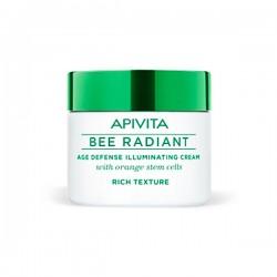 Apivita BEE RADIANT Crema iluminadora Defensa Antiedad Textura Rica - 50 ml