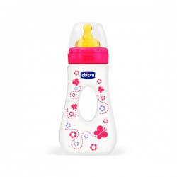 Chicco Biberón de Paseo Well-Being Látex 4m+ de 240 ml