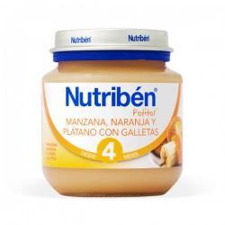 Nutribén Potito Manzana, Naranja y Plátano con Galletas - 200 g