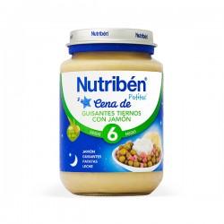 Nutribén Potito Cena de Guizantes tiernos con Jamón - 200 g