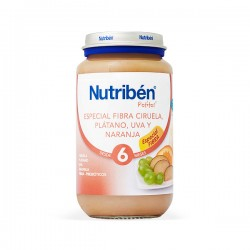 Nutribén Potito Especial Fibra Ciruela, Plátano, Uva y Naranja - 250 g