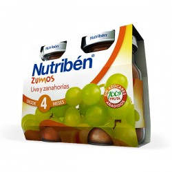 Nutribén Zumos Uva y Zanahorias - 2 x 130 ml