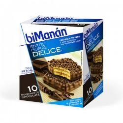 biManán Entre Horas Bombones Crujientes de Chocolate - 10 unidades