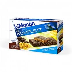 biManán Komplett Barritas Crujientes de Chocolate - 8 unidades