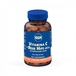 GSN Vitamina C + Rose Hips 650 mg - 100 comprimidos