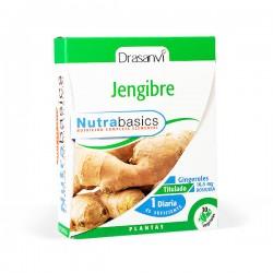 Drasanví Nutrabasics Jengibre - 30 cápsulas vegetales